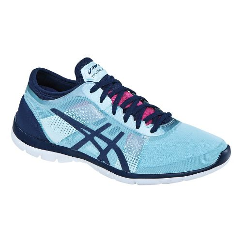Womens ASICS GEL-Fit Nova Cross Training Shoe - Ice Blue/Navy 10.5