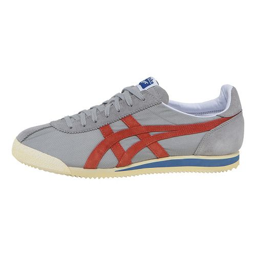 ASICS Tiger Corsair Casual Shoe - Light Grey/Orange 11.5