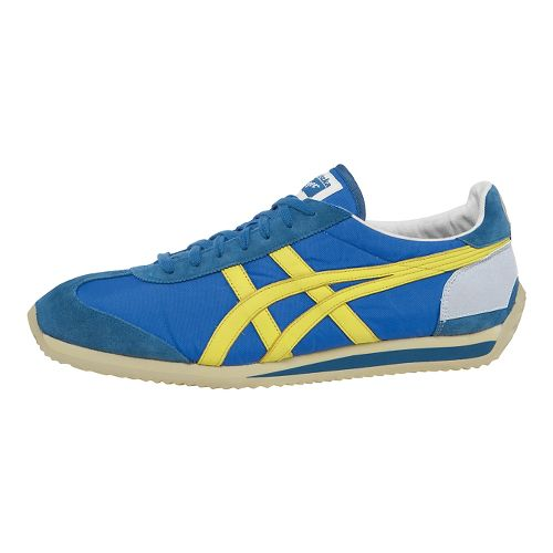 ASICS California 78 Casual Shoe - Blue/Yellow 12.5