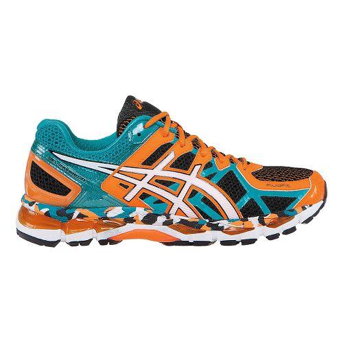 Mens ASICS GEL-Kayano 21 Running Shoe - Black/Capri Breeze 15