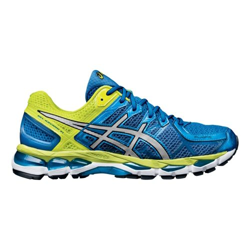 Mens ASICS GEL-Kayano 21 Running Shoe - Blue/Lime 9
