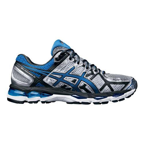 Mens ASICS GEL-Kayano 21 Running Shoe - Silver/Blue 12.5