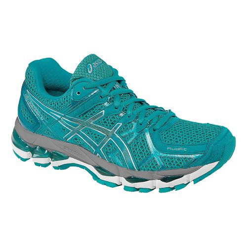 Womens ASICS GEL-Kayano 21 Running Shoe - Emerald/Silver 13