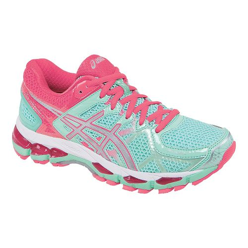 Womens ASICS GEL-Kayano 21 Running Shoe - Mint/Pink 11