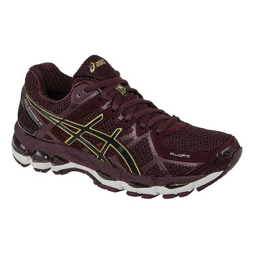 Womens ASICS GEL-Kayano 21 Running Shoe - Plum/Gold 11.5