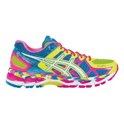 Womens ASICS GEL-Kayano 21 Running Shoe - Flash Yellow/Blue 12