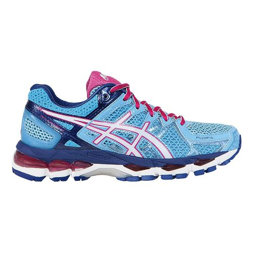 Womens ASICS GEL-Kayano 21 Running Shoe - Blue/Pink 6.5