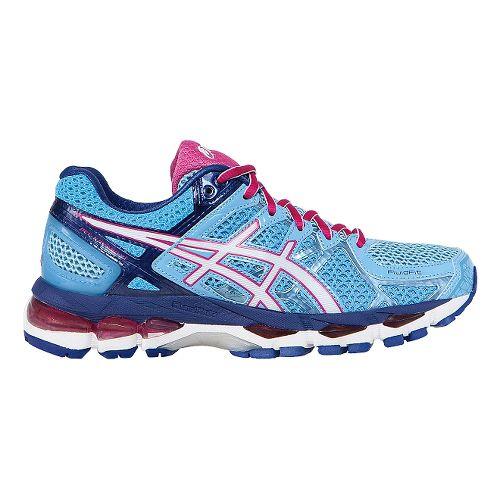 Womens ASICS GEL-Kayano 21 Running Shoe - Blue/Pink 7.5
