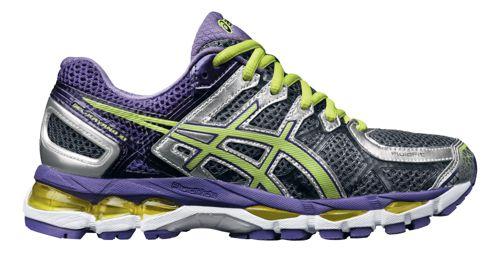 Womens ASICS GEL-Kayano 21 Running Shoe - Charcoal/Purple 6