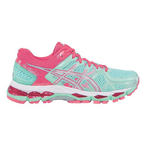 Womens ASICS GEL-Kayano 21 Running Shoe - Mint/Pink 7.5
