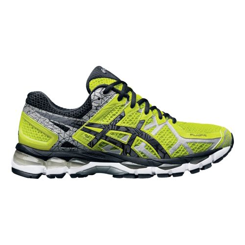 Mens ASICS GEL-Kayano 21 Lite-Show Running Shoe - Safety Yellow 9.5