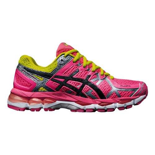 Womens ASICS GEL-Kayano 21 Lite-Show Running Shoe - Hot Pink 10.5