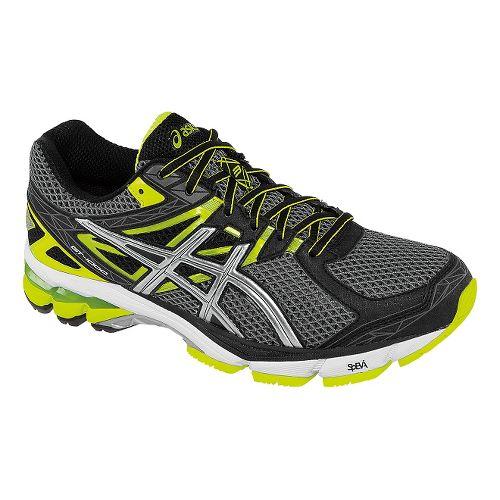 Mens ASICS GT-1000 3 Running Shoe - Carbon/Flash Green 11.5