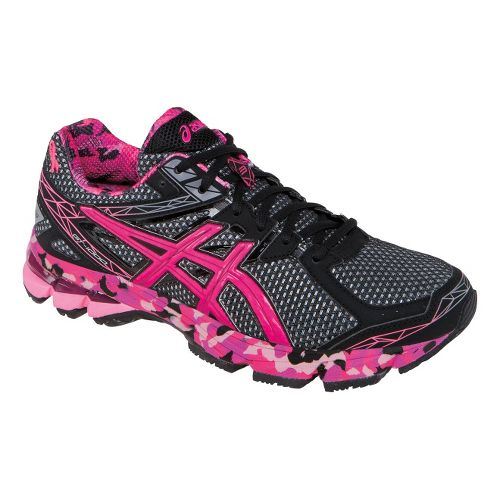 Mens ASICS GT-1000 3 Running Shoe - Black/Pink 7.5