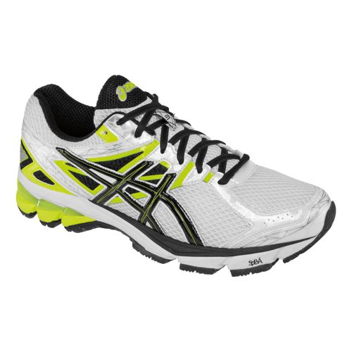 Mens ASICS GT-1000 3 Running Shoe - White/Black 15