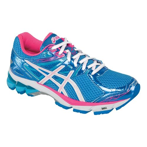 Womens ASICS GT-1000 3 Running Shoe - Turquoise/White 7.5