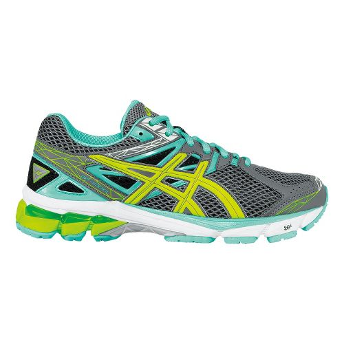 Womens ASICS GT-1000 3 Running Shoe - Charcoal/Mint 10