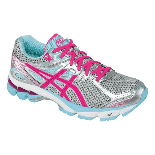Womens ASICS GT-1000 3 Running Shoe - Lightning/Hot Pink 12