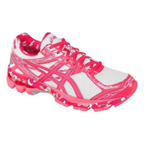 Womens ASICS GT-1000 3 Running Shoe - White/Pink 12