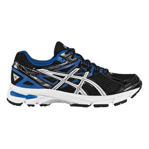 Kids ASICS GT-1000 3 GS Running Shoe - Black/Blue 2