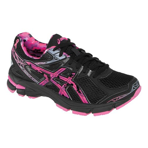 Kids ASICS GT-1000 3 GS Running Shoe - Black/Hot Pink 2