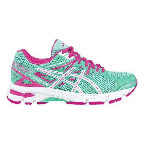 Kids ASICS GT-1000 3 GS Running Shoe - Mint/Pink 3