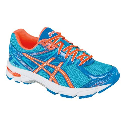 Kids ASICS GT-1000 3 GS Running Shoe - Turquoise/Hot Coral 2