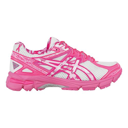 Kids ASICS GT-1000 3 GS Running Shoe - White/Hot Pink 6