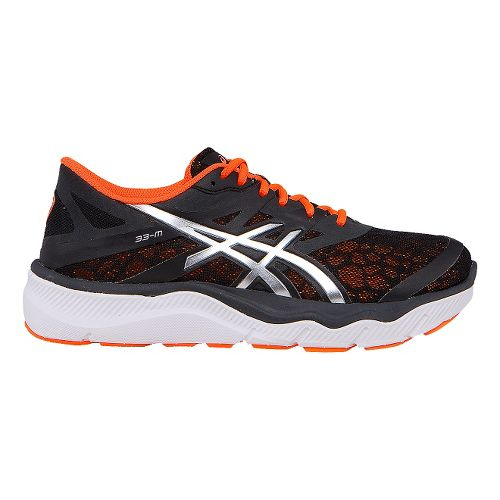 Mens ASICS 33-M Running Shoe - Black/Orange 11.5