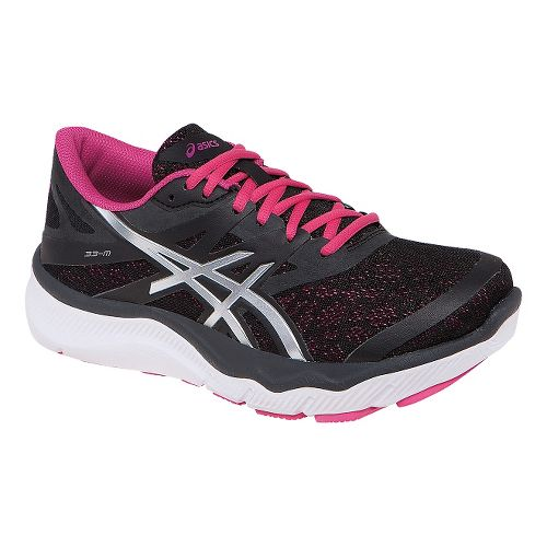 Womens ASICS 33-M Running Shoe - Onyx/Hot Pink 8.5