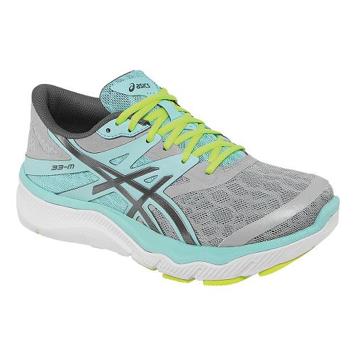 Womens ASICS 33-M Running Shoe - Charcoal/Mint 11.5