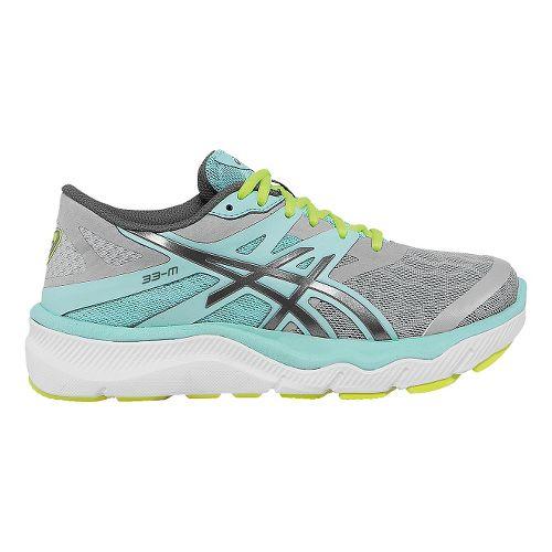 Womens ASICS 33-M Running Shoe - Charcoal/Mint 9
