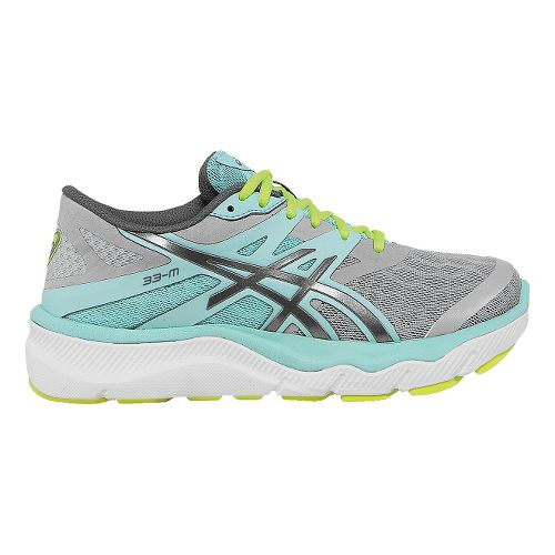 Womens ASICS 33-M Running Shoe - Charcoal/Mint 5