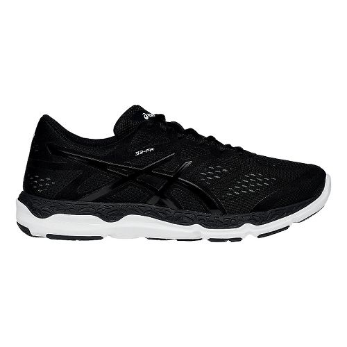 Mens ASICS 33-FA Running Shoe - Black/White 14