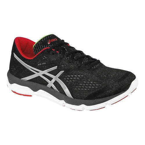 Mens ASICS 33-FA Running Shoe - Onyx/Red 9.5