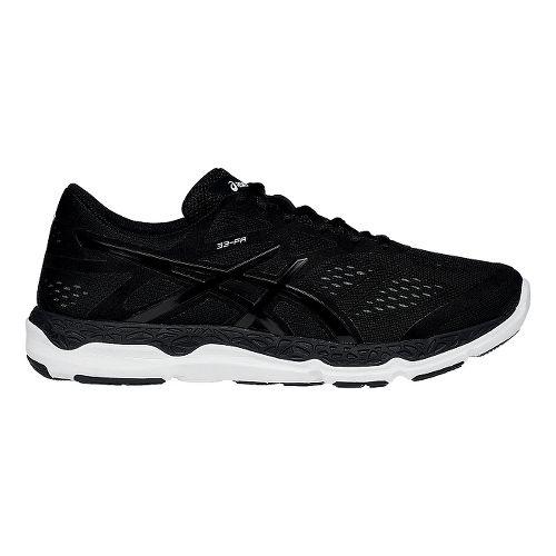 Mens ASICS 33-FA Running Shoe - Onyx/Red 8.5