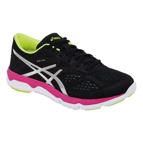 Womens ASICS 33-FA Running Shoe - Black/Hot Pink 7.5