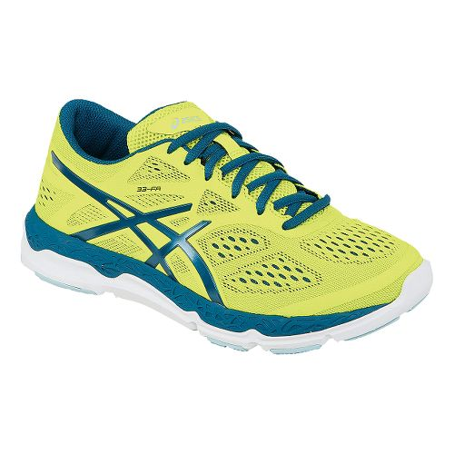 Womens ASICS 33-FA Running Shoe - Lime/Blue 9.5