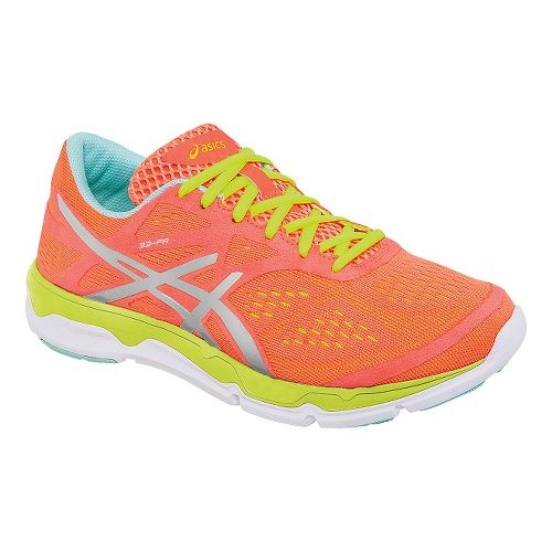 Womens ASICS 33-FA Running Shoe - Coral/Yellow 5.5