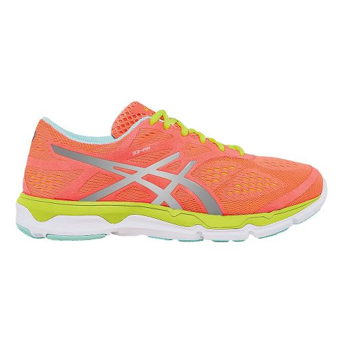 Womens ASICS 33-FA Running Shoe - Coral/Yellow 9.5