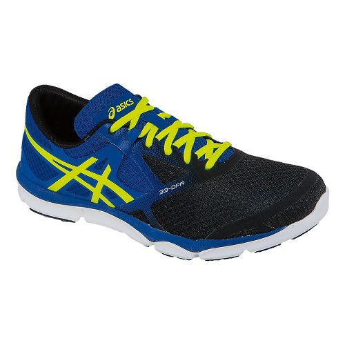 Mens ASICS 33-DFA Running Shoe - Blue/Black 11.5