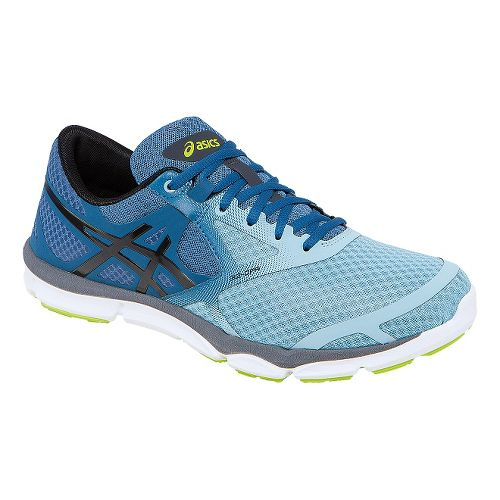 Mens ASICS 33-DFA Running Shoe - Light Blue/Black 14