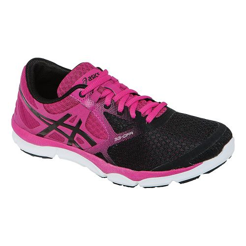 Womens ASICS 33-DFA Running Shoe - Onyx/Hot Pink 8.5