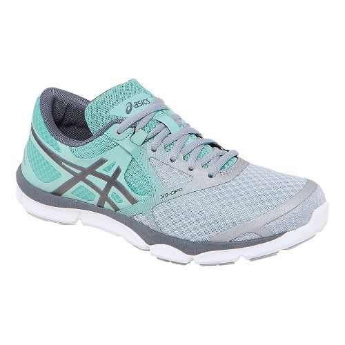 Womens ASICS 33-DFA Running Shoe - Grey/Mint 5.5
