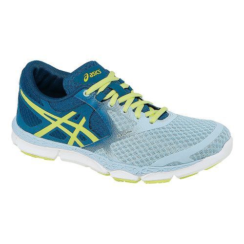 Womens ASICS 33-DFA Running Shoe - Blue/Lime 7.5