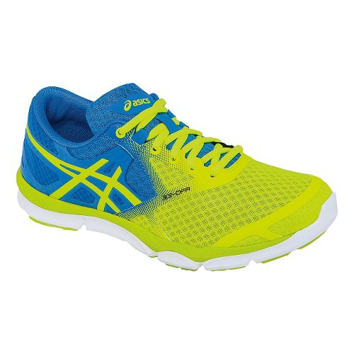 Womens ASICS 33-DFA Running Shoe - Flash Yellow/Blue 6.5