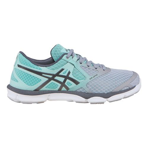 Womens ASICS 33-DFA Running Shoe - Grey/Mint 8.5