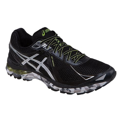 Mens ASICS GT-2000 3 Trail Running Shoe - Black/Lime 16