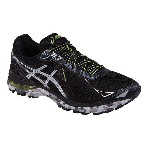 Mens ASICS GT-2000 3 Trail Running Shoe - Black/Lime 12.5
