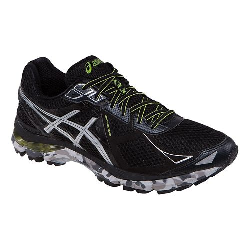 Mens ASICS GT-2000 3 Trail Running Shoe - Black/Lime 9